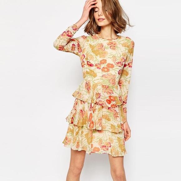 ASOS Design mini dress layered trill